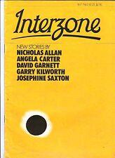 INTERZONE V 1 # 3 1982 SCIENCE FICTION MAGAZINE UK NICHOLAS ALLAN SAXTON CARTER