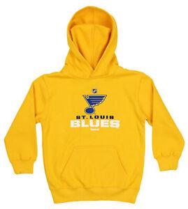 Reebok NHL Kids (4-7) St. Louis Blues FLC Clean Cut Team Fleece Hoodie