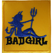 Bad Girl Patch Iron Sew On Jacket Jeans Bag T Shirt Sexy Devil Embroidered Badge