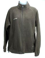 COLUMBIA Womens Size Large Brown Fleece Long Sleeve Full Zip Jacket Coat