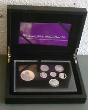 Diamond Jubilee Royal Mint 7-coin Sterling Silver Proof Boxed Set 2012 Rare