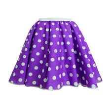 ROCK N ROLL SKIRT Ladies POLKA DOT 1950's Grease Hairspray FANCY DRESS COSTUME