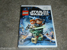 LEGO STAR WARS 3 THE CLONE WARS  LUCASARTS NINTENDO WII VIDEO GAME DISC