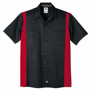Dickies Men's Two Tone Short Sleeve Work Shirt Size XL-XXL NWT Quality Counts