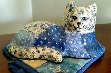 "Vintage Folk Art~Fabric Decoupage~Purples-7"" X 3 1/4"""
