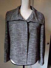 AKRIS Lightweight Open Weave Cropped Jacket Blazer w/ Pockets Sz 10 US