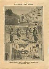 China Church Garden Cemetery brothers Convers Trappist Choir 1911 ILLUSTRATION