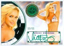 "NIKKI ZIERING ""GREEN AUTOGRAPH CARD #11/11"" BENCHWARMER VEGAS BABY 2014"