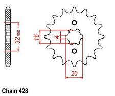 KR Ritzel 14Z Teilung 428 RIEJU MRT 125 SM 2012-2013 ... front sprocket