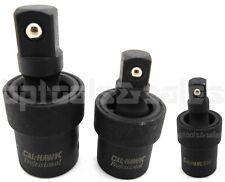 "3pc Universal Impact Joint Set 3/8"" 1/2"" 1/4"" DR. CR-MO Ball Type Swivel Socket"