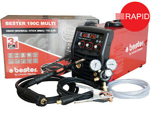 Lincoln Bester 190C Multi Process MIG Welder Package 230v, with 2 Year Warranty