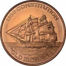1 oz Copper Round - USS Constitution