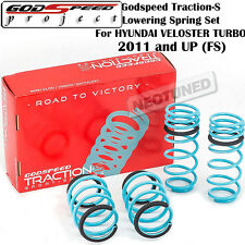 GODSPEED TRACTION-S LOWERING COIL SPRINGS SET FOR HYUNDAI VELOSTER TURBO 2011+FS