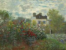 The Artist's Garden in Argenteuil by Claude Monet 75cm x 56.4cm Canvas Print