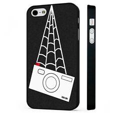 Spiderman Peter Parker Cámara Nikon teléfono negro Funda Encaja iPHONE