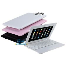 Newest 10 inch Mini Laptop Netbook Android white Computer with WIFI Camera mouse