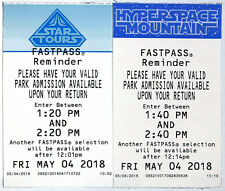 Disneyland May the 4th Star Tours & Hyperspace Mt. Fastpasses 2018 Mint S. Wars
