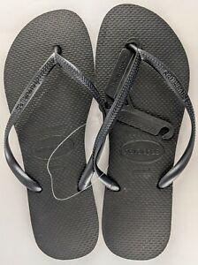 Havaianas Women's Thongs Black Size 41/42 NEW