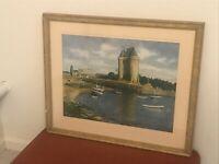 Robert Moesle Painting SAINT SERVAN Listed Artist