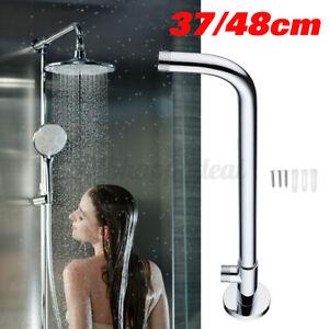 Chrome Brass Shower  Bottom Entry Hose Wall Mounted Shower Head Extensio