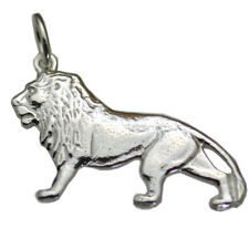 COOL Real genuine Sterling Silver .925 Jewelry Lion Pendant charm looks like ASL
