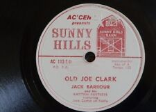 78 Rpm Jack Barbour & ritmo Rustlers viejo Joe Clark/Wake Up Susie