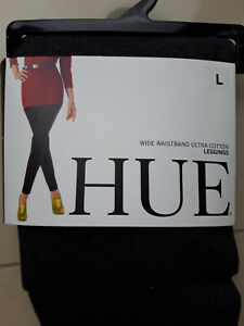 HUE Hig Waistband Ultra Cotton Leggings, Grey, BLACK S, M; L, XL