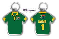 Personalised SOUTH AFRICA Rugby Team Supporters Jersey Shirt Keyring