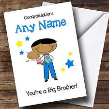 Asiatico BIG BROTHER congratulazioni NEW BABY SISTER GIRL PERSONALIZZATA Sibling CARD