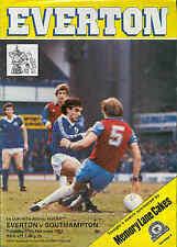 Everton v Southampton - FA Cup Replay - 17/2/1981 - Football Programme