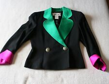 Hiper fashionable GENNY Jacket. Size IT42 / US8 (High Couture) 100% Wool & Silk!
