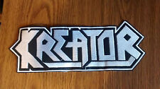 KREATOR,SEW ON WHITE EMBROIDERED LARGE BACK PATCH