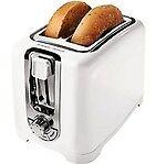 Black & Decker Tr1256W 2-Slice Toaster, White