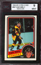 1984 85 OPC O PEE CHEE #327 CAM NEELY RC GRADED KSA 9 MINT CANUCKS BRUINS ROOKIE