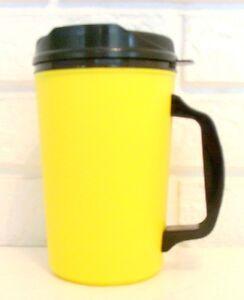 20 oz Yellow Thermo Serv Classic Insulated Travel Coffee Mugs