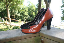 VTG 40s 50s PinUp Two Tone SWING SHOES Heels  5.5 - 6