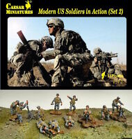 Modern US Soldiers in Action (set 2) Caesar Miniatures H094- 1/72 Scale
