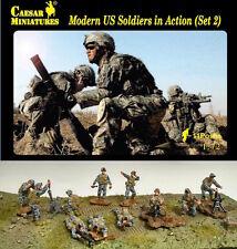 Moderno soldados estadounidenses en acción (Set 2) César miniaturas H094-escala 1/72