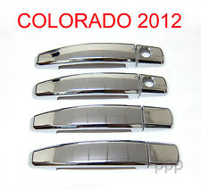 4 DOOR HANDLE CHROME COVER 2 KEY HOLE CHEVROLET HOLDEN COLORADO RG UTE 2012 - 14