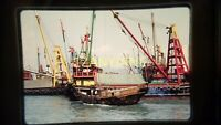 AB19 VINTAGE 35mm SLIDE TRANSPARENCY Photo MULTIPLE CLASSIC BOATS ON WATER 1984