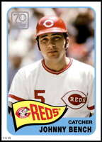Johnny Bench 2021 Topps 5x7 70 Years of Topps Baseball #70YT-15 /49 Reds