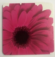 NEW CORK COASTER PINK GERBRA FLOWER PACKAGED