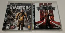 inFamous & Unreal Tournament III PS3 PlayStation 3 Used Tested