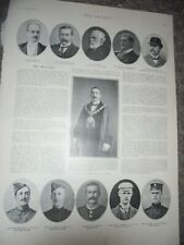 Printed photo Alfred Bowker mayor of Winchester 1901 ref Am