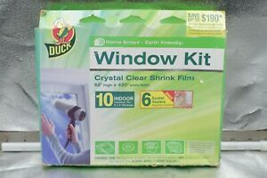 Window Insulation Shrink Kits 10-3'X5' Window Duck Brand Indoor & Earth Friendly