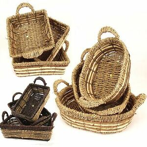 Set of Three Seagrass Baskets