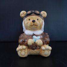 Tirelire ours aviateur art-déco céramique PN Ecritures