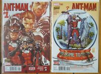 Ant-man 2015 #1 & 2 NM+ 1st Print Marvel Comics Scott Lang Hank Pym Paul Rudd