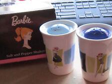 Barbie Doll Ceramic Salt and Pepper set Limited edition Mattel NEW NIB RETO