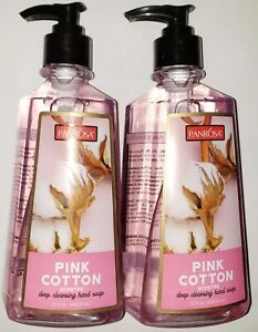 2 Panrosa Pink Cotton Scented Deep Cleaning Hand Soap 15 FL OZ